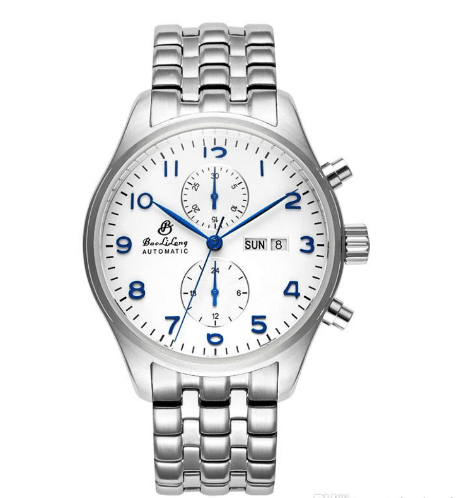 automatic mechanical stainless steel watch