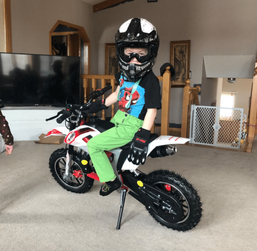 kids mini dirt bike