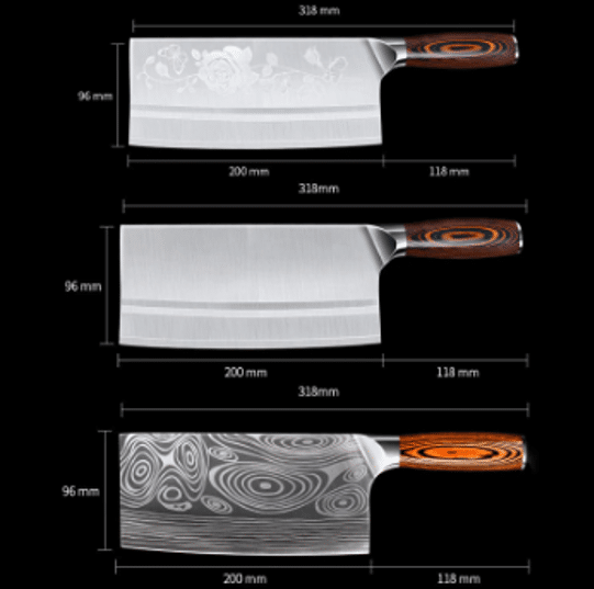 Chinese cleaver wooden handle